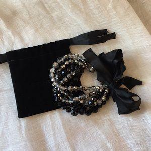 St. John Beaded Glass Bow Bracelet